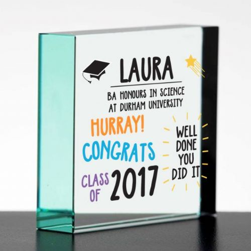 Graduation Glass Block